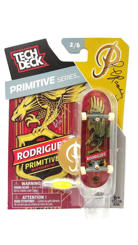 Tech Deck Primitive Series Paul Rodriguez Skateboard 2/6 Signed