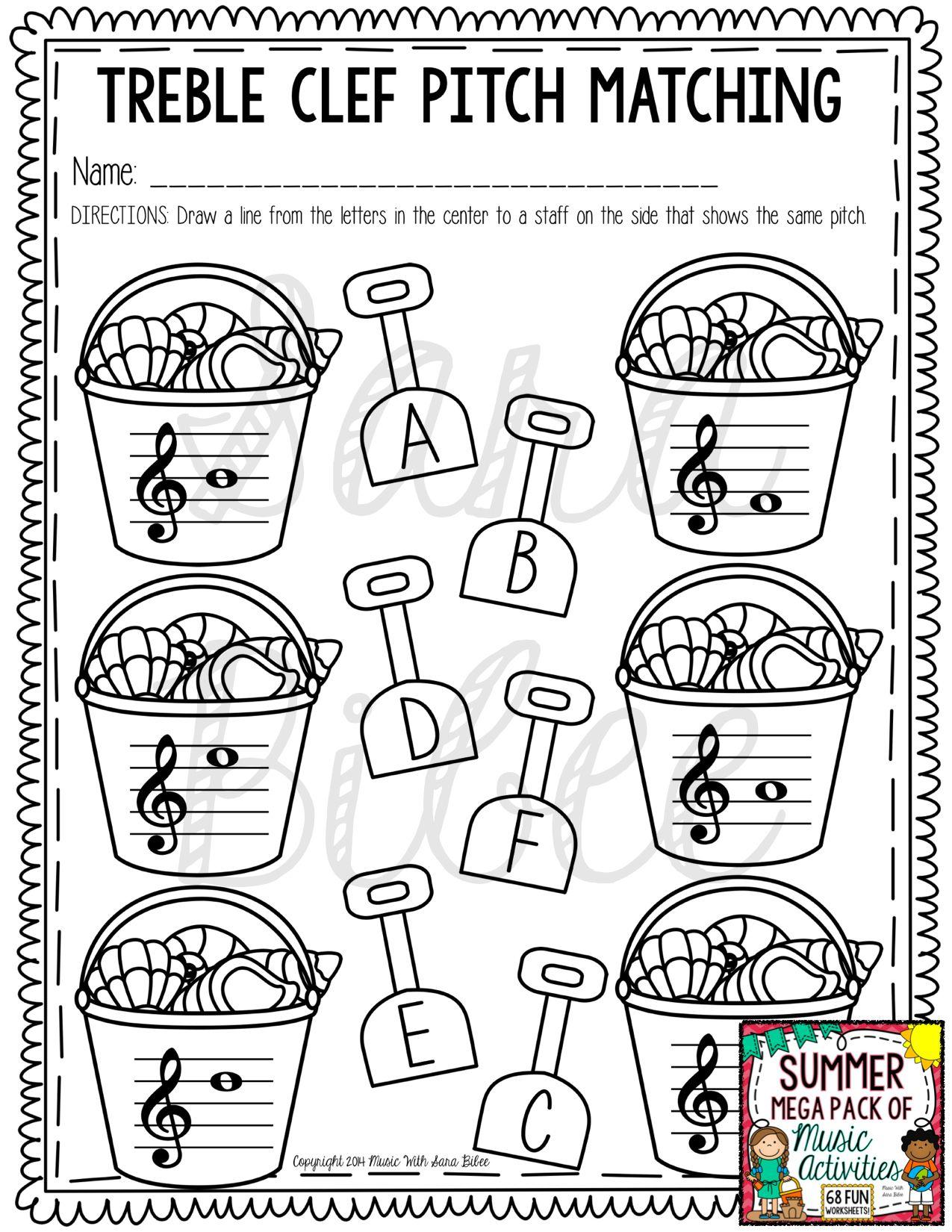 Summer Mega Pack Of Music Worksheets 82 Pages