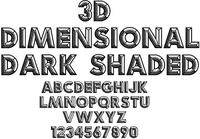 3D-Dimentional-Dark-Shaded-Sample copy.jpg (764×533) | Font - Text ...