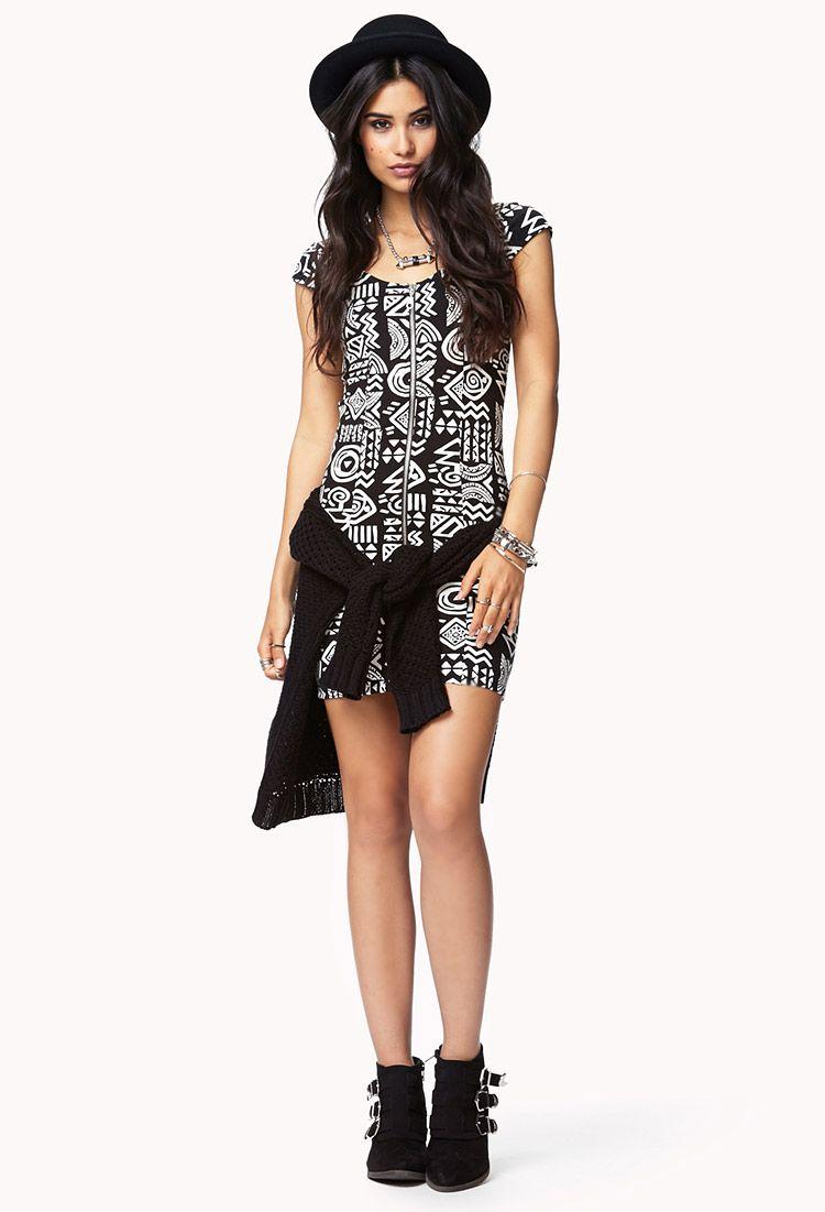 Tribal bodycon dress forever dream wardrobe