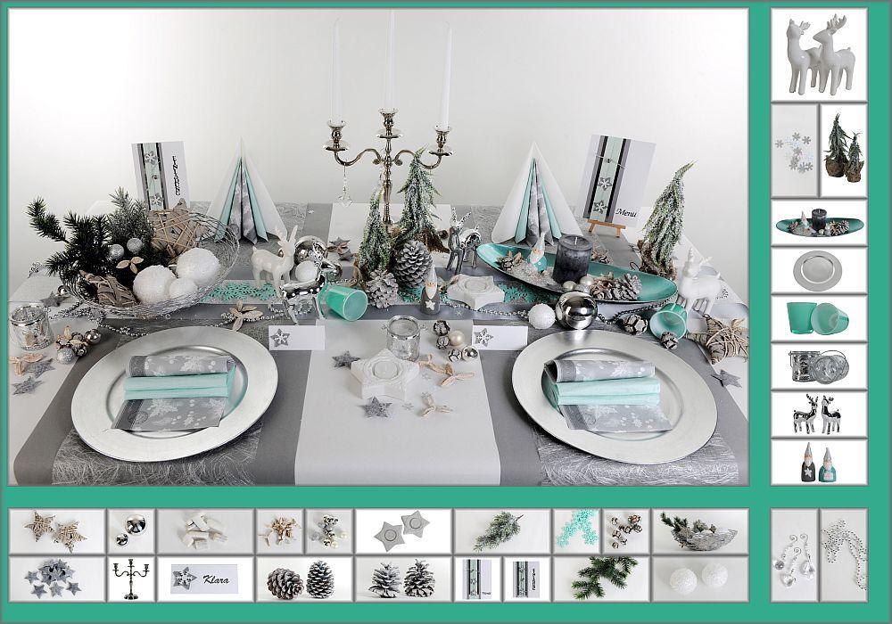 Weihnachtstischdeko Silber tischdeko weihnachten 5 in mint als mustertisch tafeldeko de