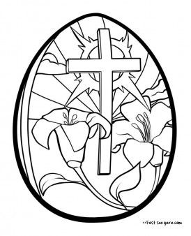 Print Out Cross Easter Egg Coloring Page Printable Coloring Pages For Kids Easter Coloring Sheets Free Easter Coloring Pages Coloring Easter Eggs