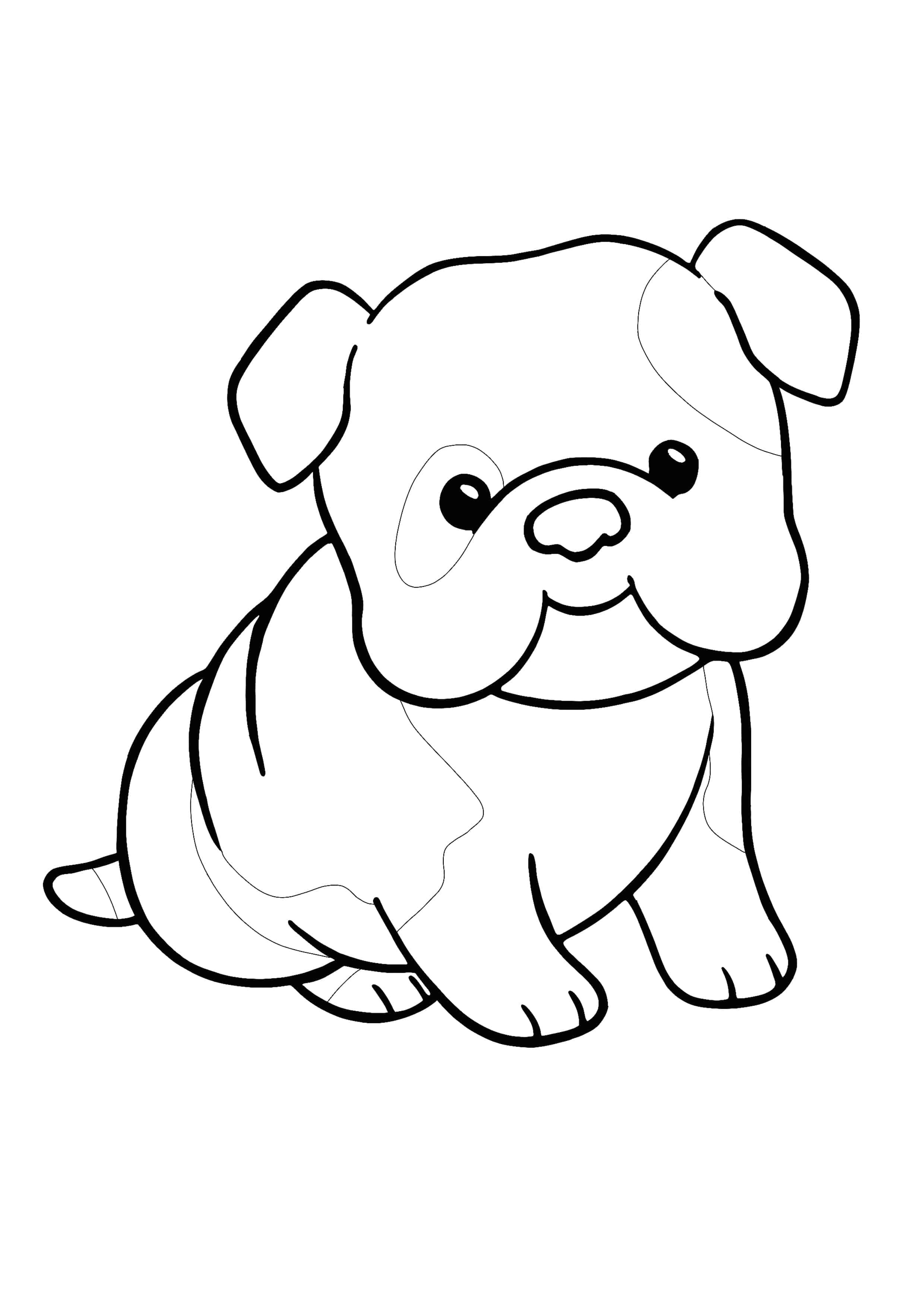 Kawaii Puppy Coloring Page For Kids Dog Coloring Page Puppy Coloring Pages Animal Coloring Sheets