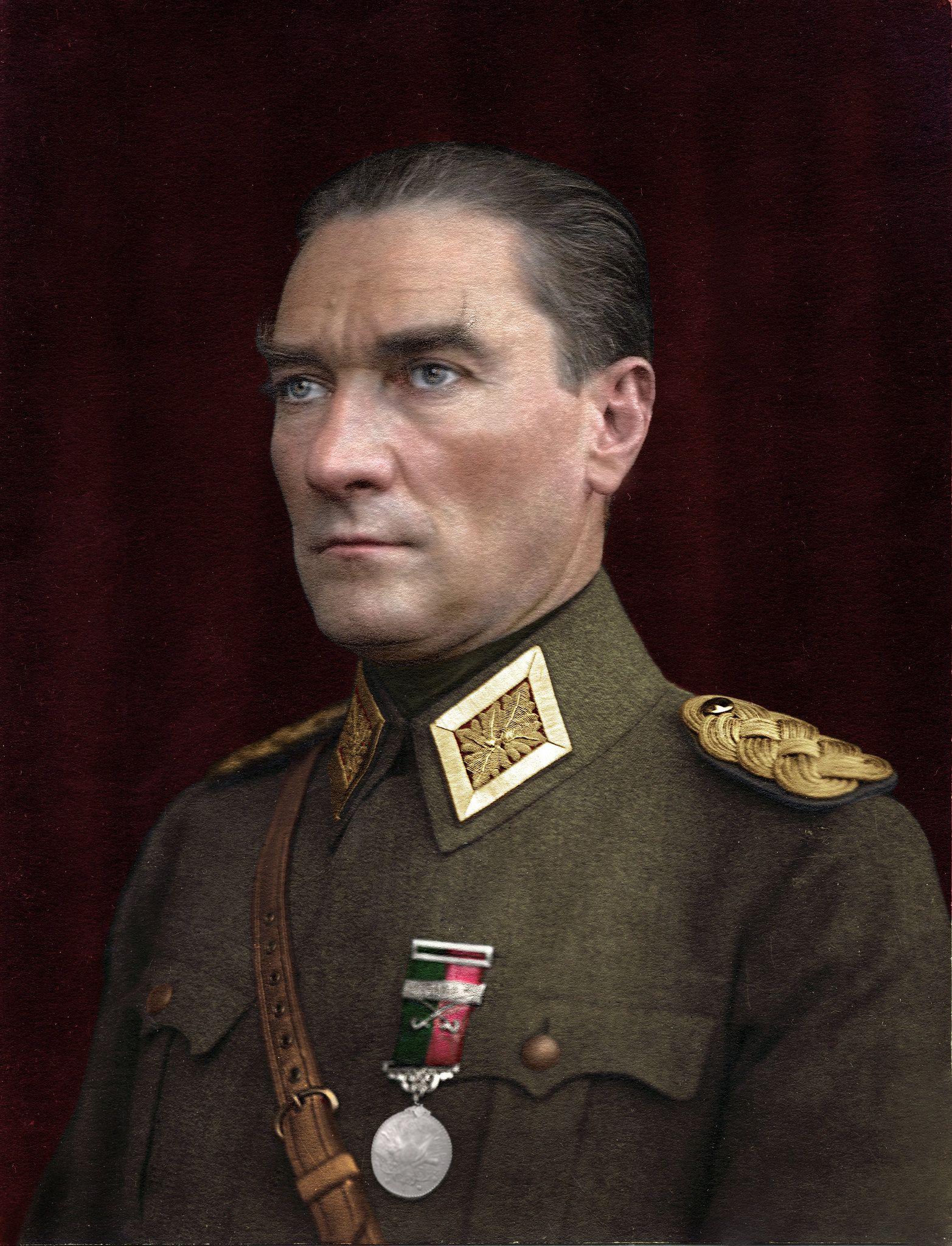 Mustafa Kemal Ataturk Colorized Historical Photos War Photography Old Photography