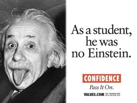 Confidence Albert Einstein Affirmation Motivational Stories Art
