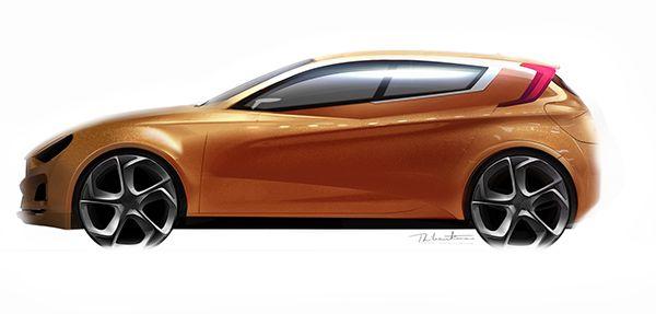 Fiat Punto 2020 On Behance Design Sketch Sketch Design Car Design