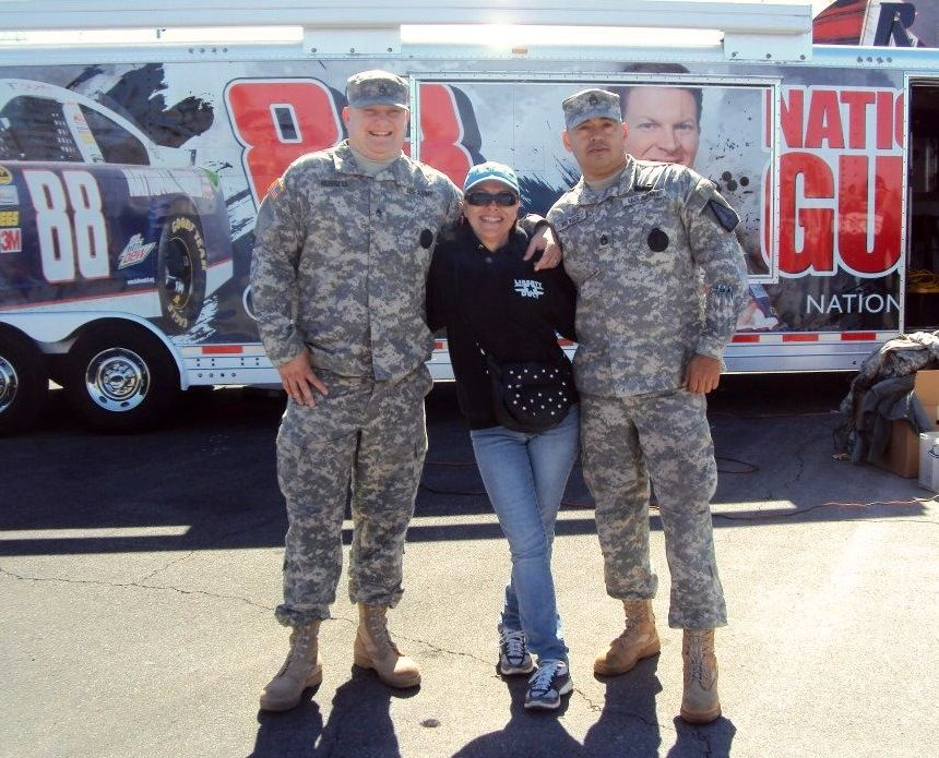 Trudy with the National Guard LVMS