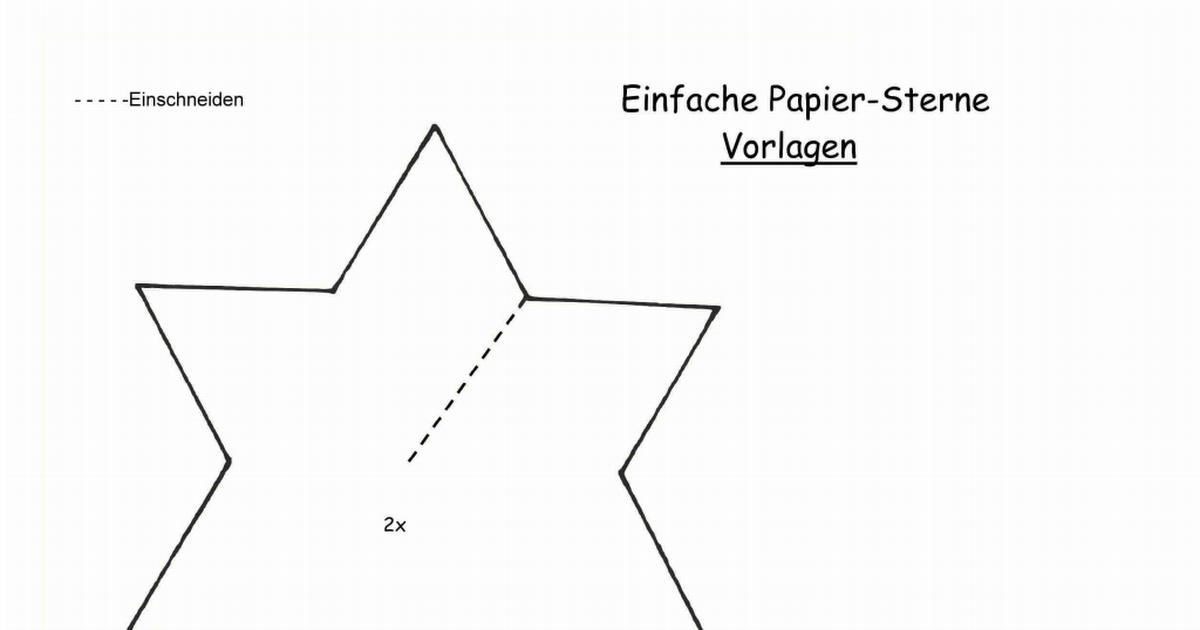 Einfache Papier Sterne Vorlagenpdf Sterne Falten Filing