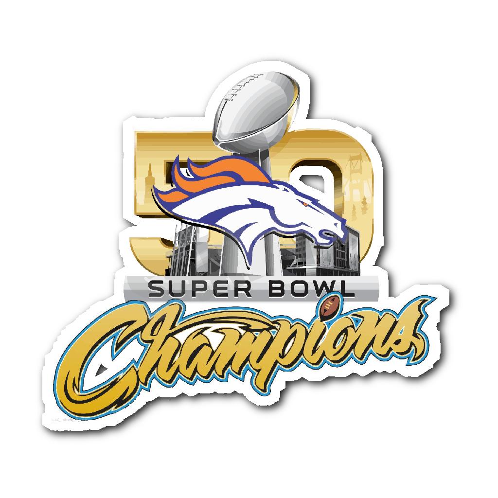 d3b5e8391 Denver Broncos SUPER BOWL 50 CHAMPIONS Decal Sticker - Free Shipping Denver  Broncos SUPER BOWL