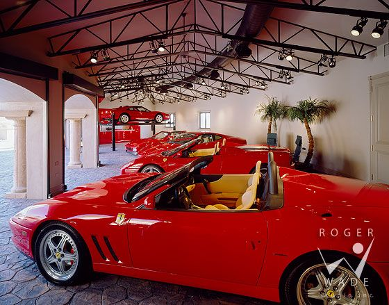 Roger Wade Studio Architectural Photography Of Luxury Ferrari Garage Private Home Tucson Interior Design Photography Garage Design Architecture Photography