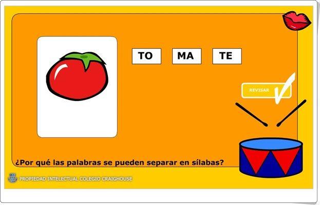 El Tambor De Las Sílabas Silabas Nivel De Educación Aprendizaje Creativo