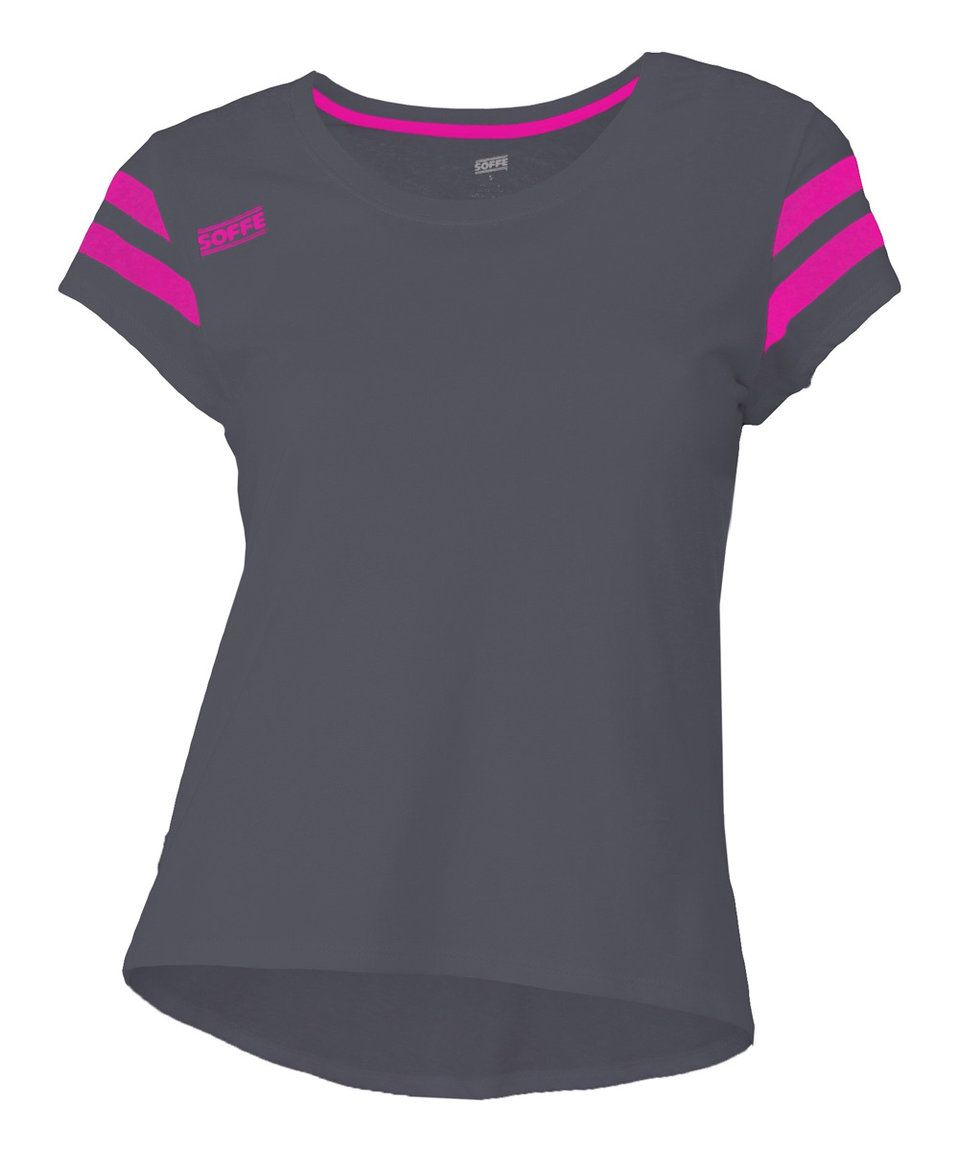 Take a look at this Soffe Black & Pink Glo Gym Class Tee today!