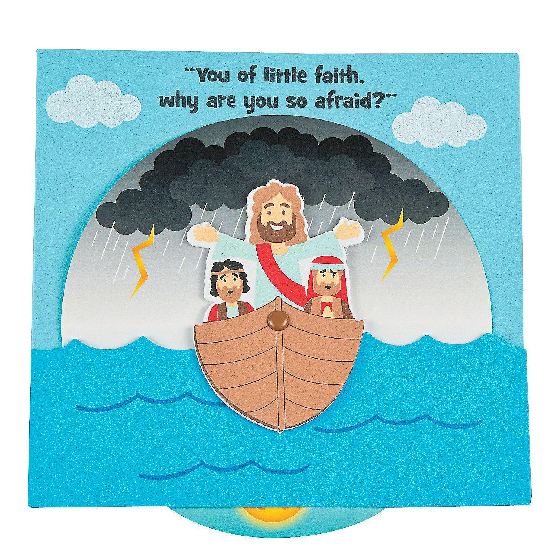Jesus Calms The Storm Wheel Craft Kit Orientaltrading Com Sunday School Crafts For Kids Sunday School Crafts Jesus Calms The Storm