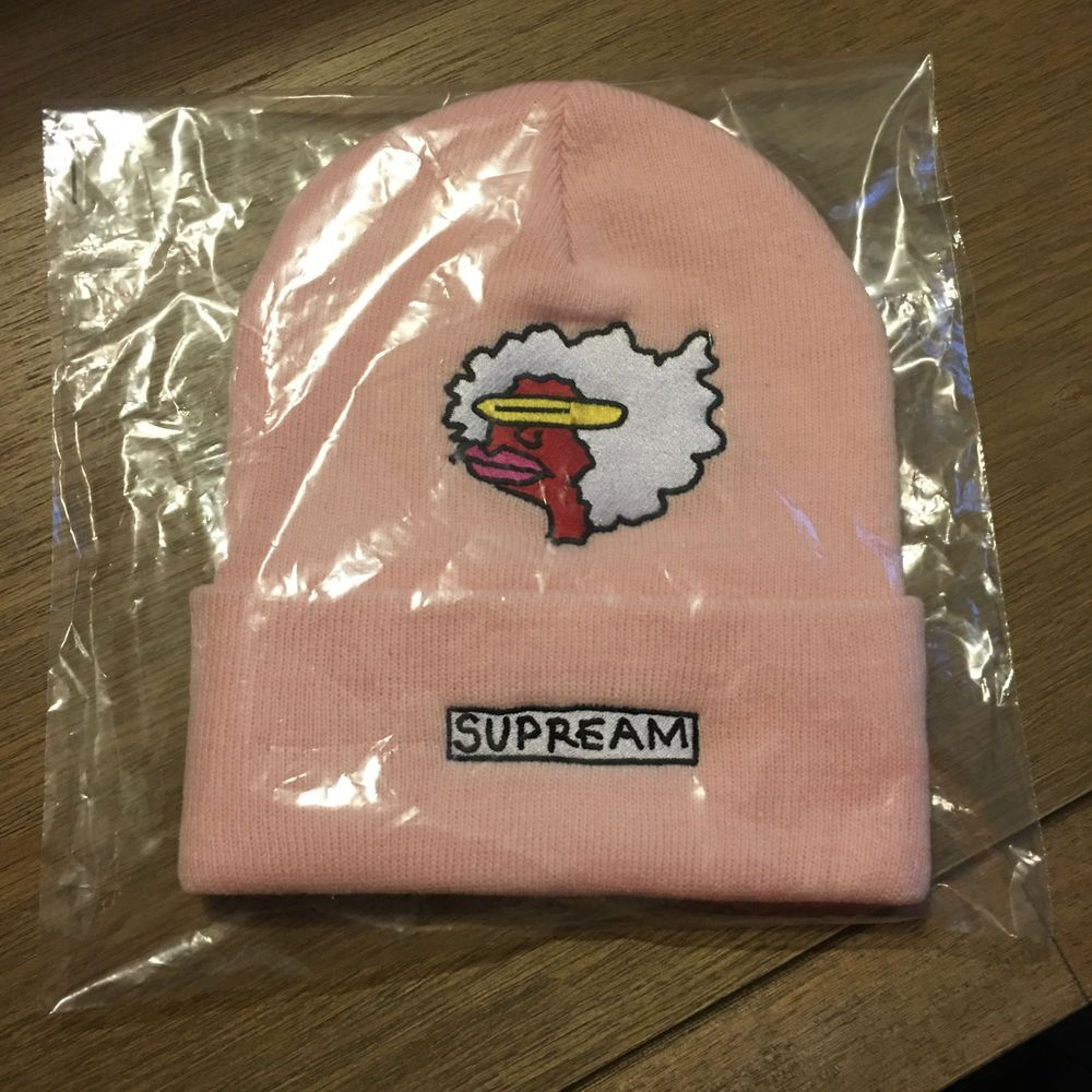 87f1b3916a6 Supreme FW17 Gonz Ramm Beanie Light Pink New Era Box Logo S Camp Cap Hat   fashion  clothing  shoes  accessories  mensaccessories  hats (ebay link)