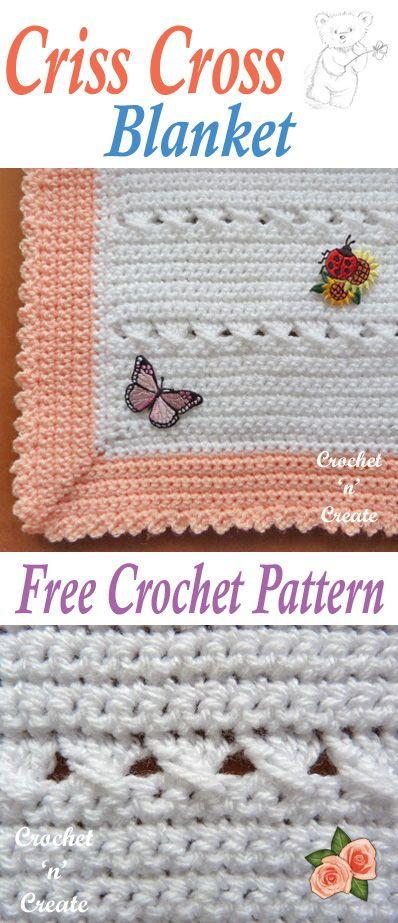Crisscross Baby Blanket Free Crochet Pattern All Things Crochet
