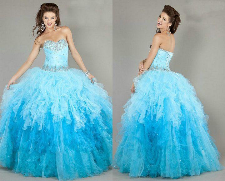 blue sweet 16 dresses - Dress Yp