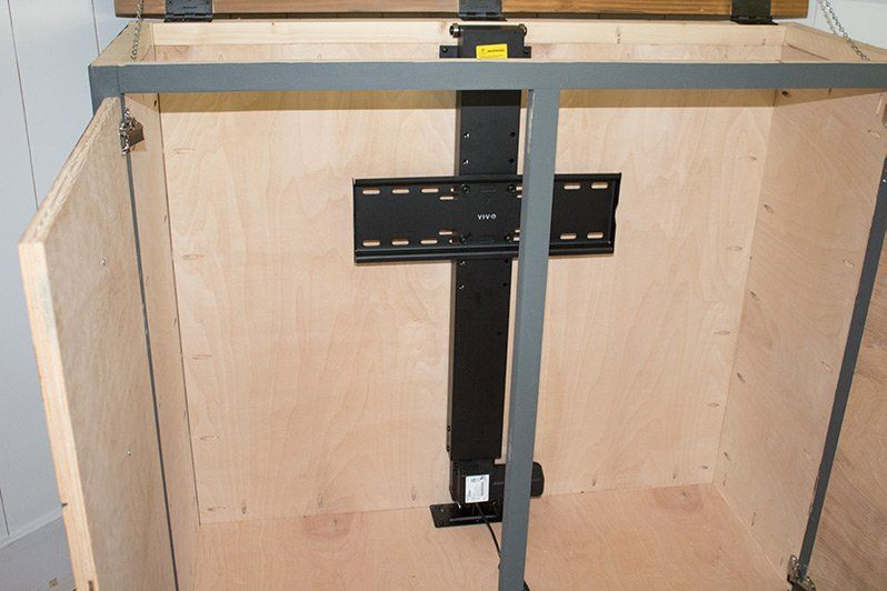 How To Build A Diy Tv Lift Cabinet Tv Lift Cabinet Tv Cabinet Diy Diy Cabinets