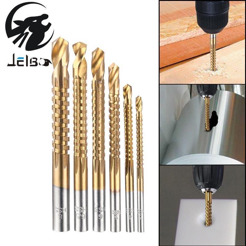 Twist Tile Drill Bits HSS High Steel Titanium Saw Drilling Bits Wood Metal Tool