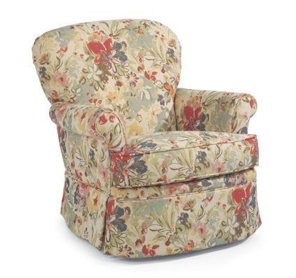 Flexsteel Furniture: Accent Chairs: HeatherFabric Swivel Glider X X
