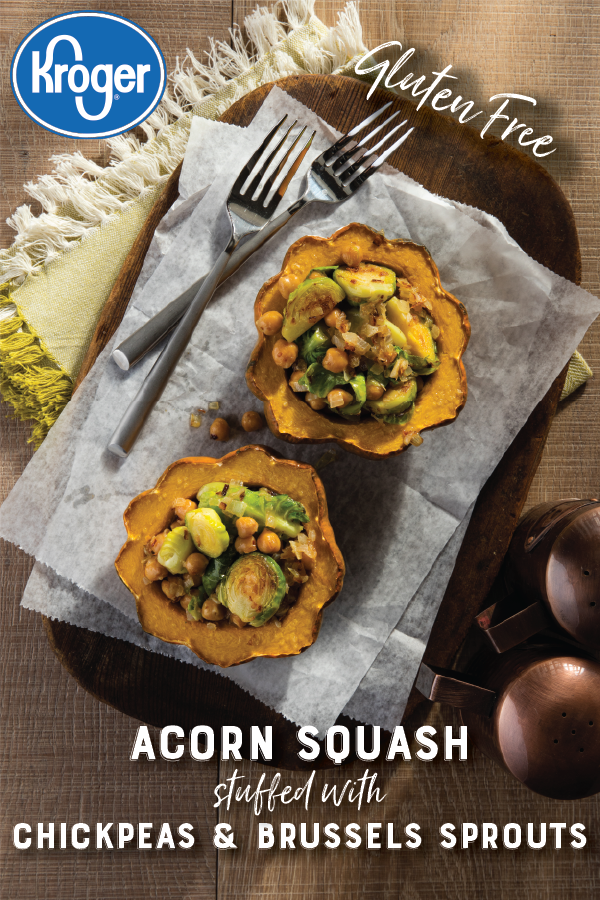 Chickpea And Brussels Sprouts Stuffed Acorn Squash Recipe Food