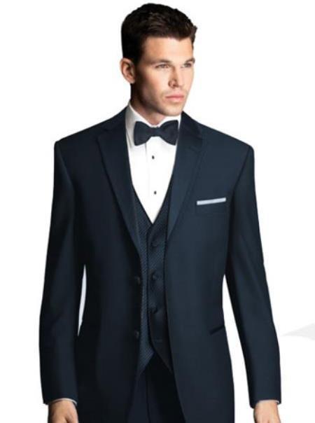 Men Tuxedo Pleated Pant Black