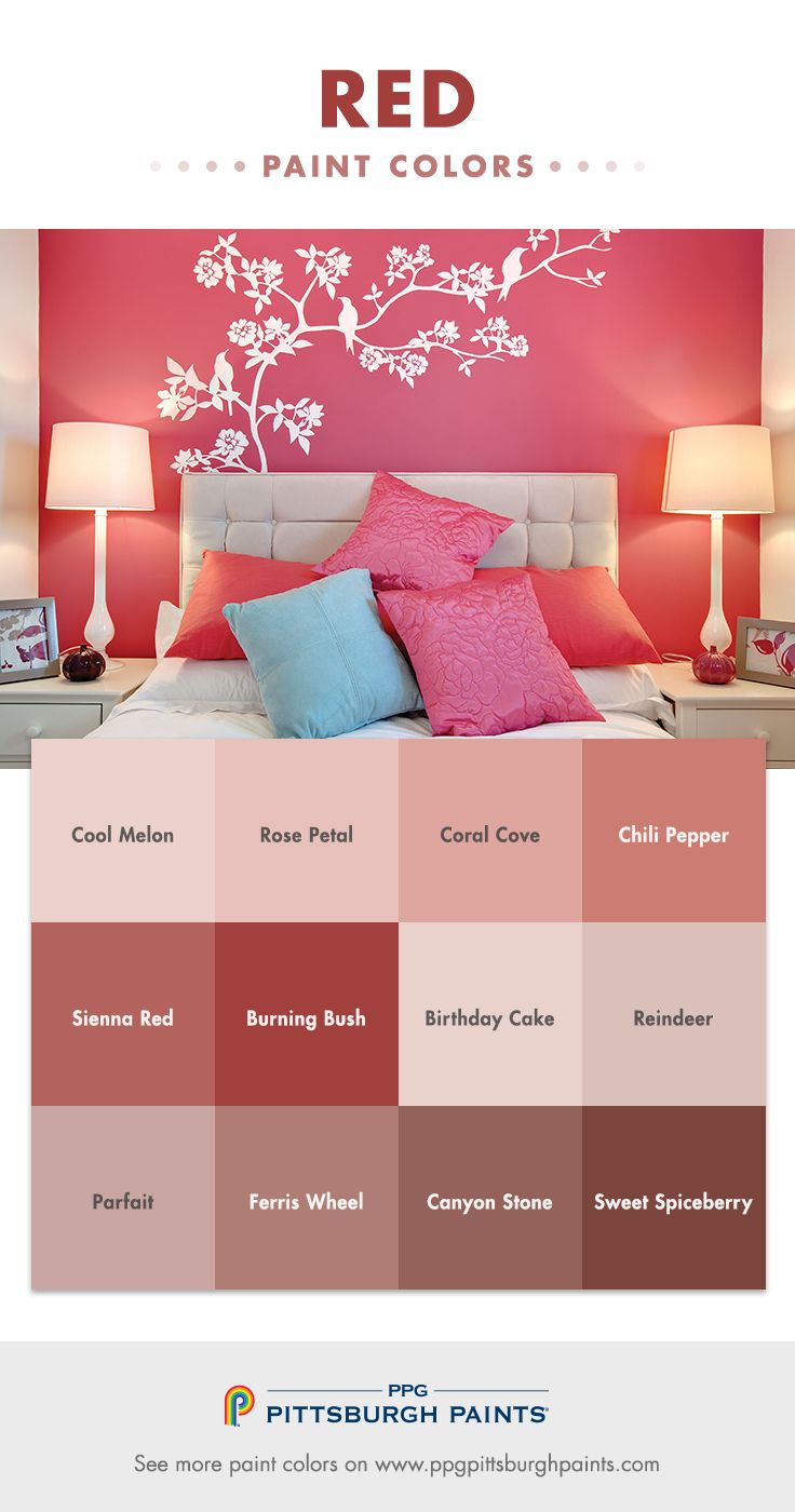 Red paint color inspiration from PPG Pittsburgh Paints® | Farm house ...