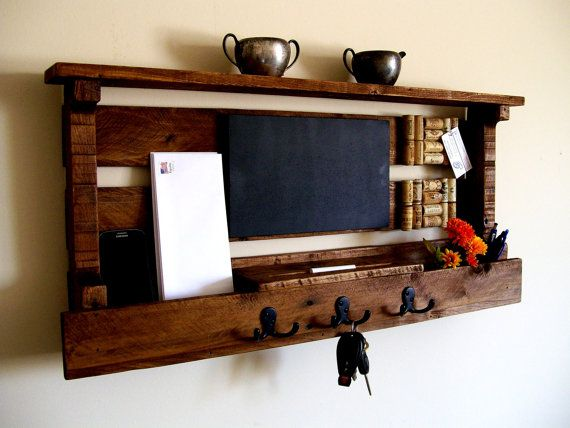 mail organizer wine cork board chalk board key rack coat rack