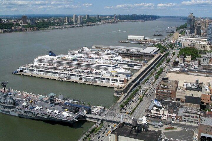Port Of New York Manhattan Cruise Terminal Webcam Camera - Cruise ship web cameras