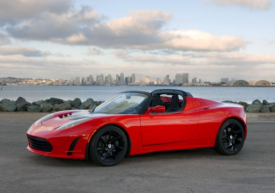 Tesla Roadster Electric Car In Seconds  Miles On One Charge  Tail Pipe Emissions