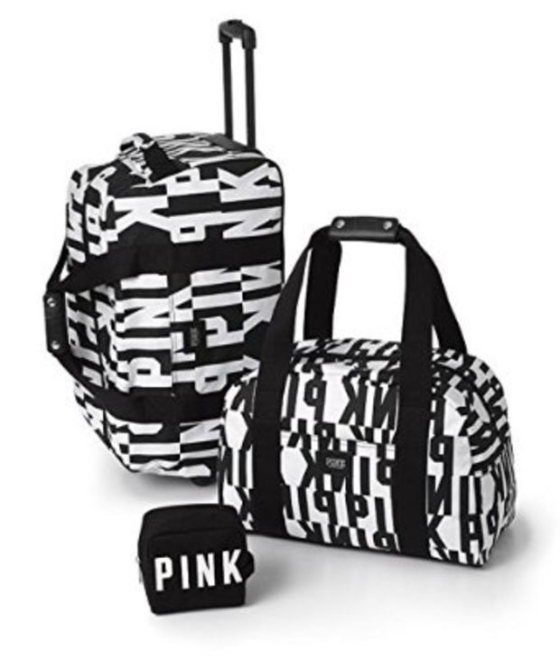 Victoria's Secret Pink Ltd Ed 3 Piece Travel Set Luggage Suitcase ...