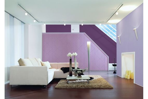 salon original salon tapisserie mauve travaux maison deco images photos club. Black Bedroom Furniture Sets. Home Design Ideas