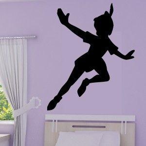 Sticker silhouette peter pan disney pinterest fee - Fee clochette ombre ...