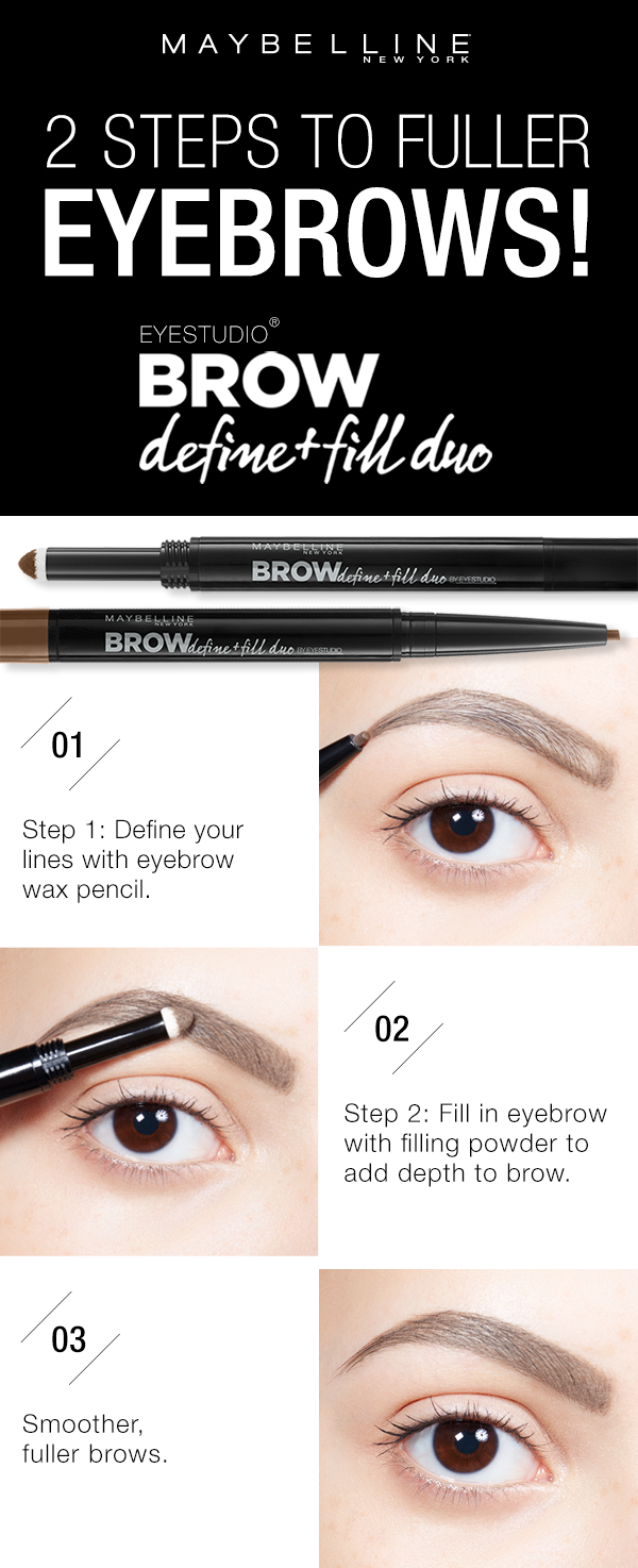 Get Fuller Smoother Looking Brows Using The Maybelline Brow Define