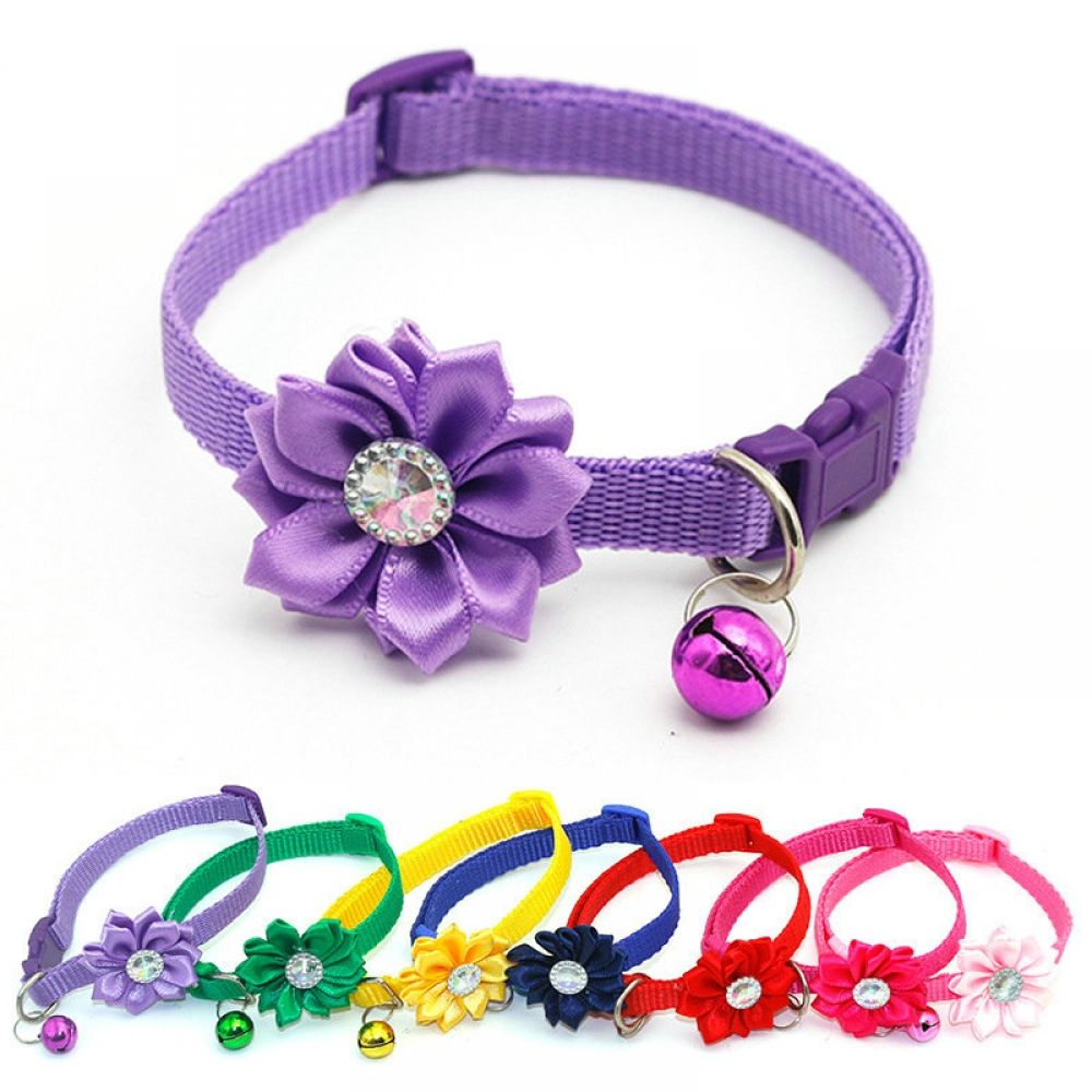Cat Collar Adjustable Easy Wear Collar For Cat With Bells
