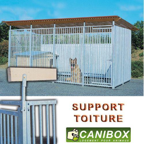 support de toiture de chenil en kit pour abriter son chien. Black Bedroom Furniture Sets. Home Design Ideas