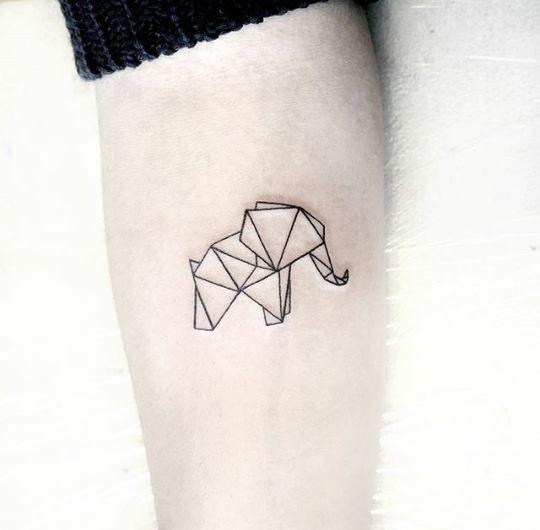 Elephant Tattoo Geometric