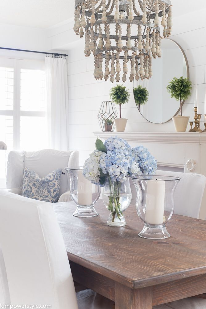 Pin By Tina Horn On House On Hydrangea Hill Dining Room Table Centerpieces Dining Room Table Decor Dining Table Centerpiece