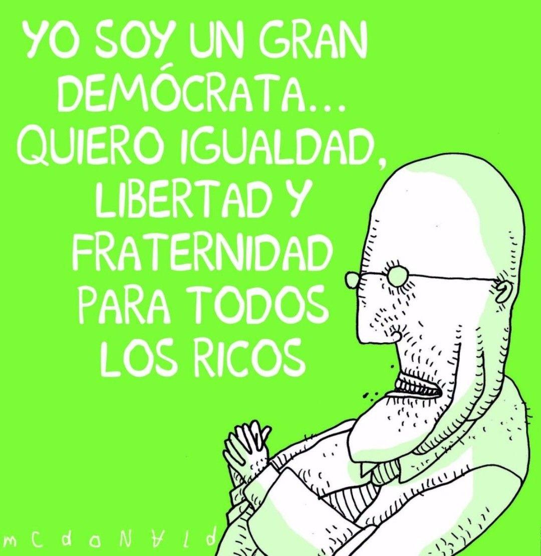 Un gran demócrata... #Viñeta #Humor