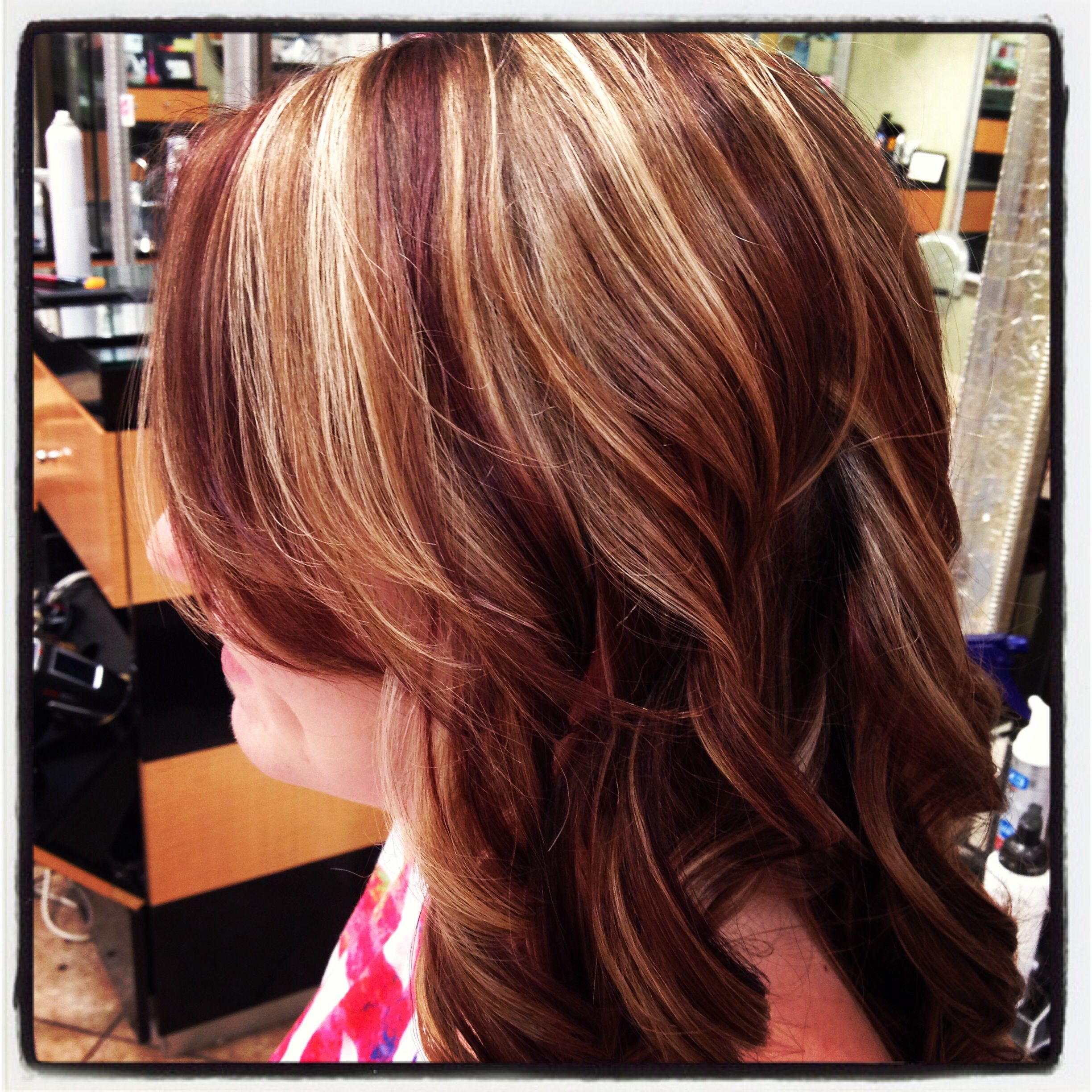 Highlights And Red Lowlights Hair Pinterest