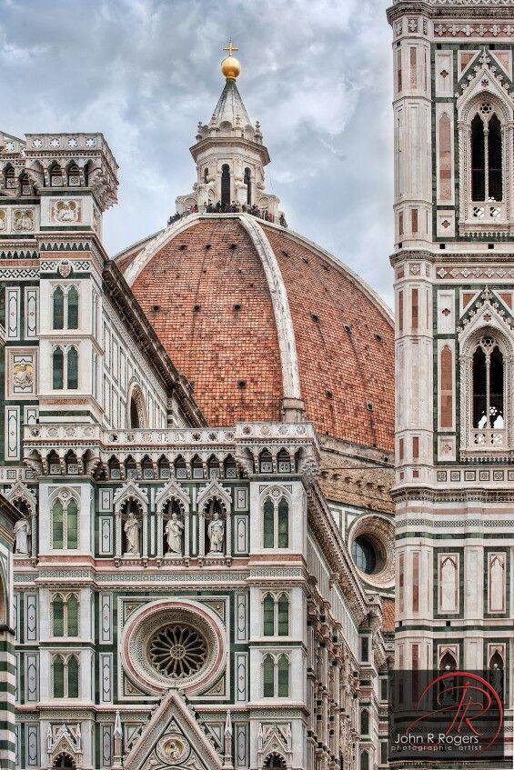 Dome of Santa Maria del Fiore in Florence designed by Filippo Brunelleschi (1377-1447)