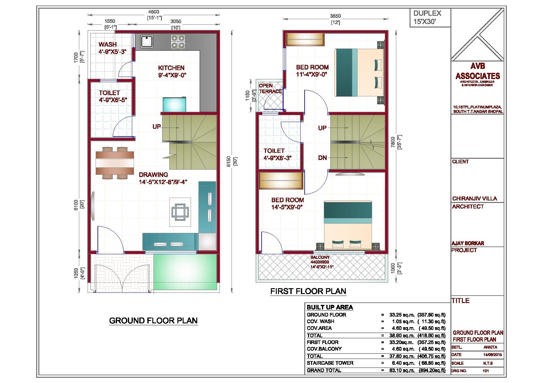 Interior Exterior My House Plans Duplex Indian Cottage