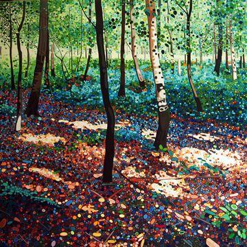 Ewa Adams Summer Sun  Acrylic on Canvas 100 x 100 cm