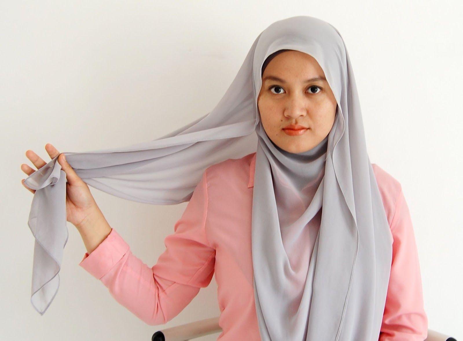 kacamatamia: Chiffon Shawl Hijab Tutorial #1