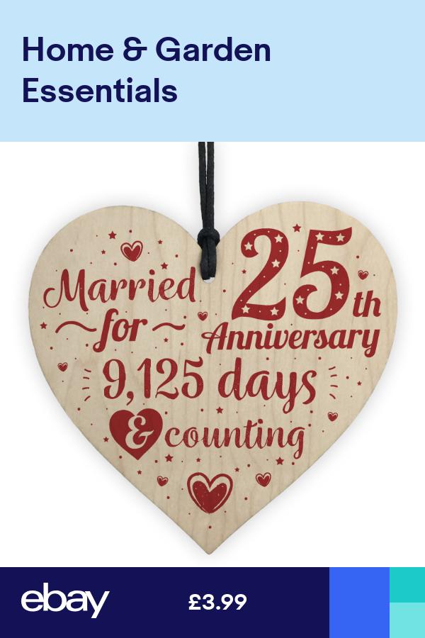 25th Wedding Anniversary Gifts Silver Twenty Five Years