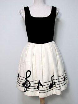 Music Dress <3 omg yes for an open house meet the music teacher night!!!:)