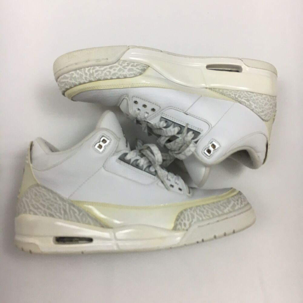 new arrival 68a29 2330d Rare Air Jordan Retro 3 Silver 25th Anniversary Pure Money 2010 Size 10