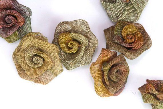 4 pcs Steampunk Roses 5/8 po 16mm altéré Art Craft par OzBrassShop