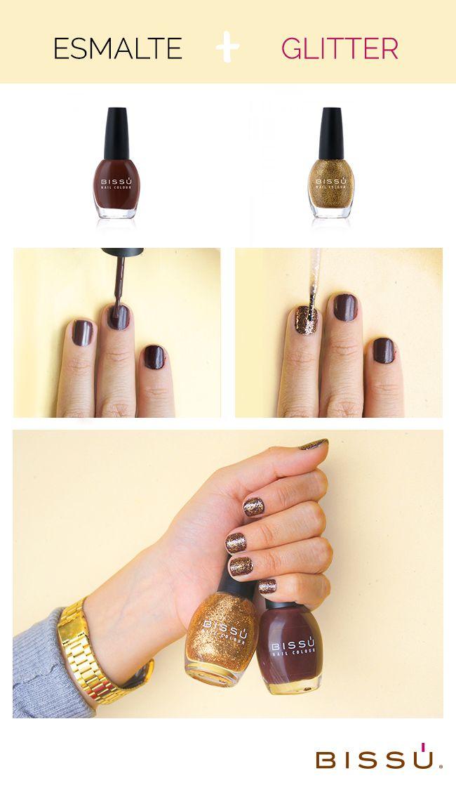 Te gustan las uñas con glitter? http://tiendaweb.bissu.com/26 ...