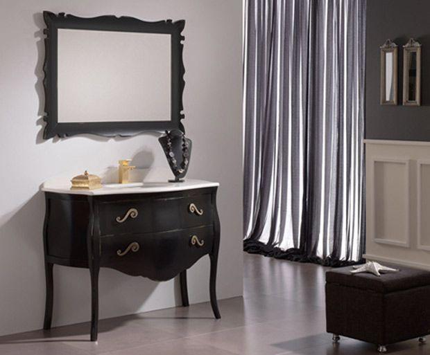 mueble bao clsico actual en negro - Muebles De Bao Clasicos