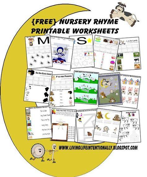 Free Nursery Rhymes Worksheets Activities Free Nursery Rhymes Nursery Rhymes Preschool Nursery Rhymes Activities Free nursery rhymes worksheets for